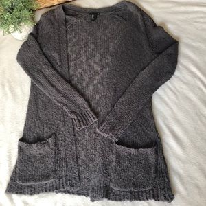 Forever 21 Open Knit 2 Pocket Cardigan